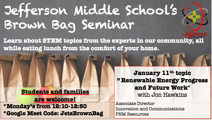 Brown Bag Seminar- January 11th 2021